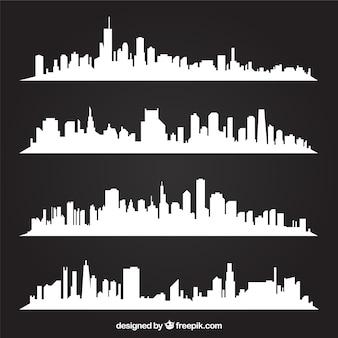 White skylines