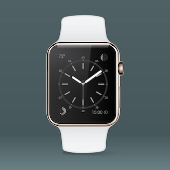White smartwatch background