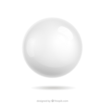 White sphere