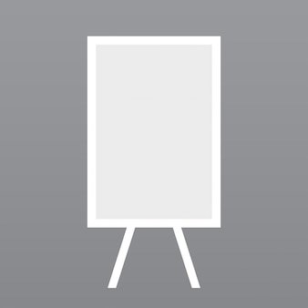 White stand, light gray background