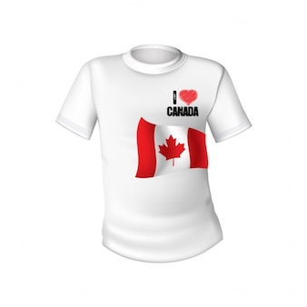 White t shirt with the flag of canada