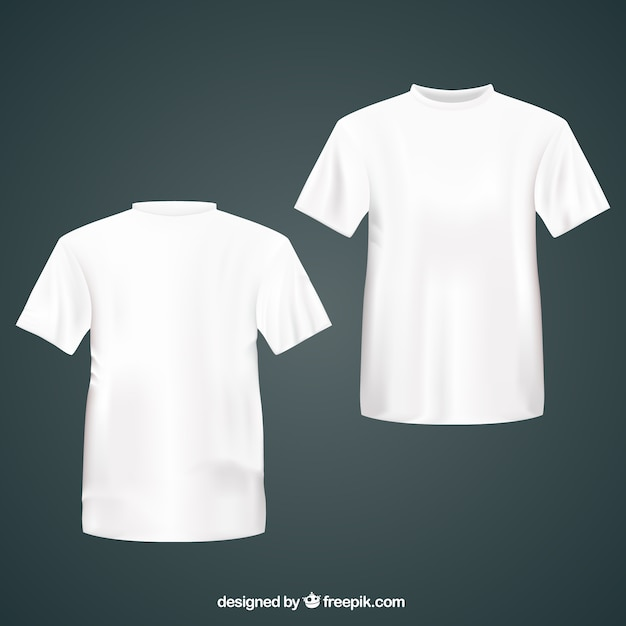 Front and back t-shirt template PSD file | Free Download