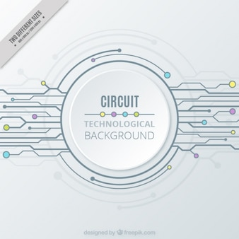 White technology background with a circuit