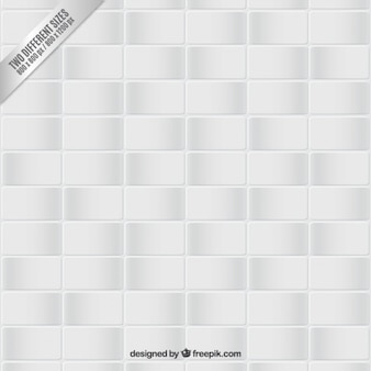 White tiled floor background
