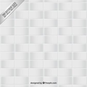 White tiled floor background