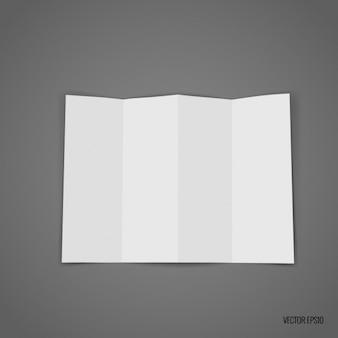 White trifold template design