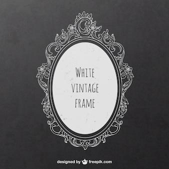 White vintage frame