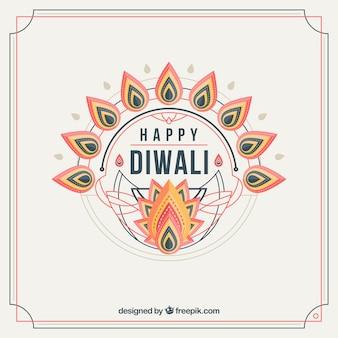 Whote diwali background