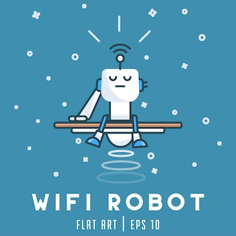 Wifi robot background