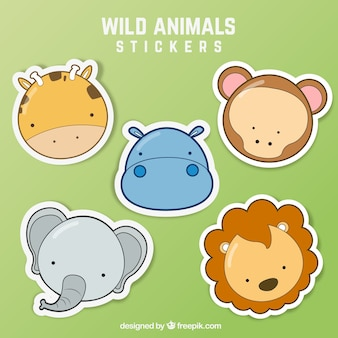 Wild animal stickers