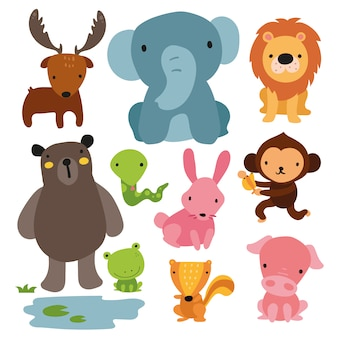 Wild animals collecti