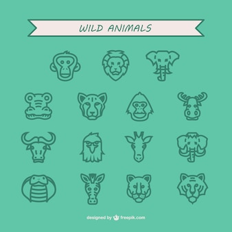 Wild animals icon pack