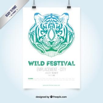 Wild festival flyer