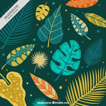 Wild leaves background