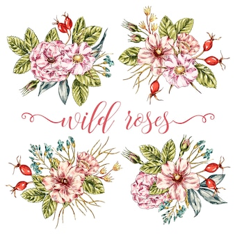 Wild Roses Bouquets Collection