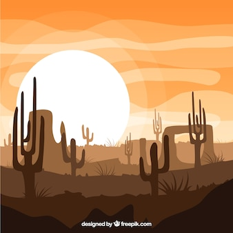 Wild west nature background