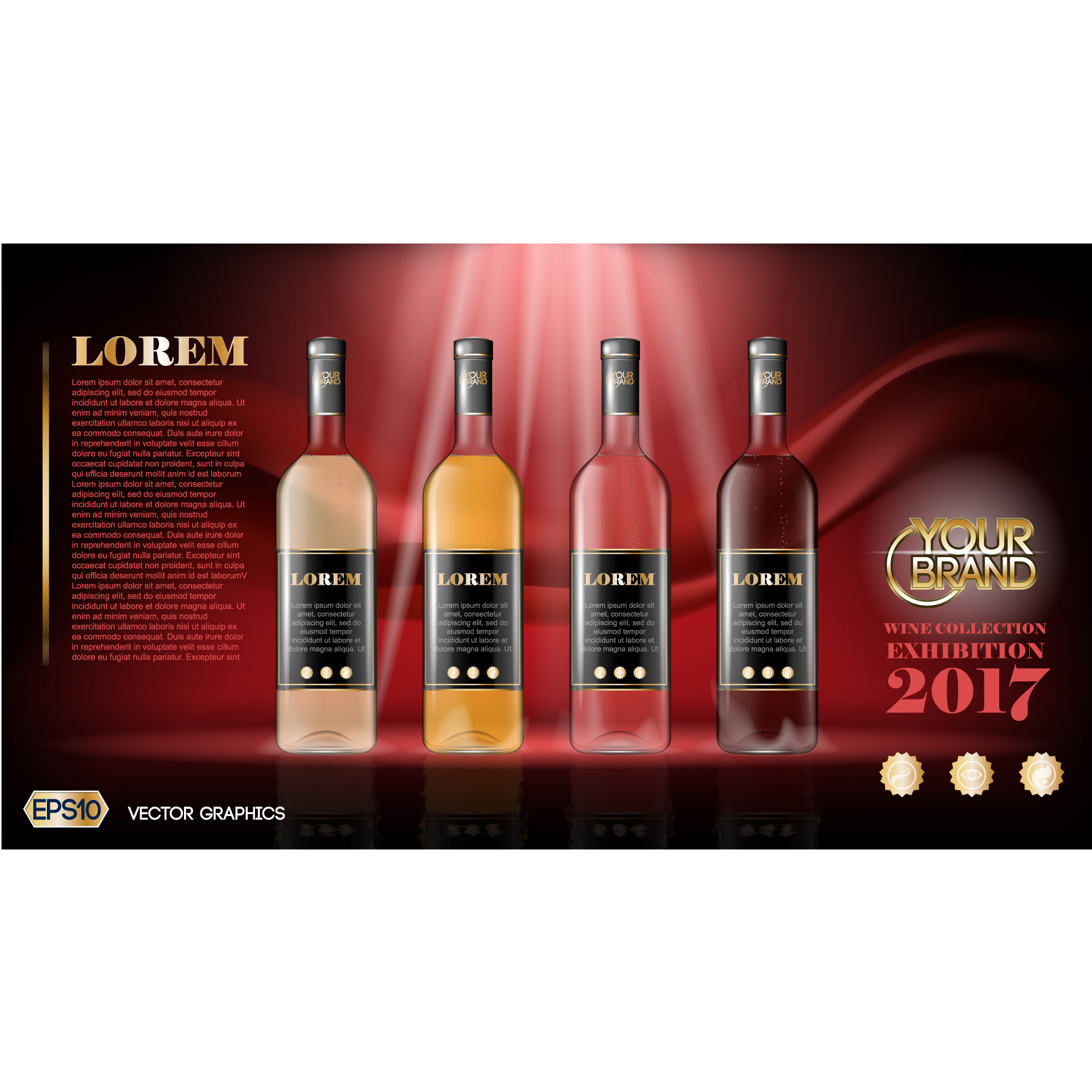 Wine brochure template