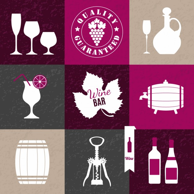 Wine collage background
