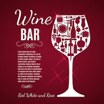 Wine glass red background