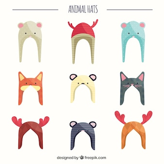 Winter Animal Hats Collection