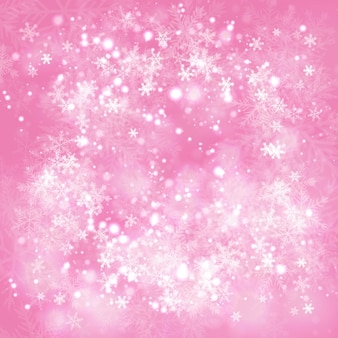 pink winter bubbles background vector free download