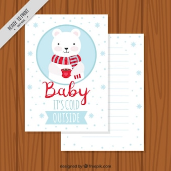 Winter card with affectionate phrase