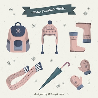 Winter clothes in cute style