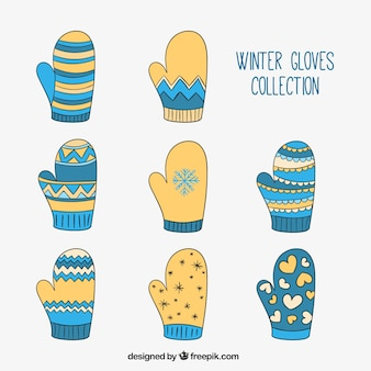 Winter gloves collection