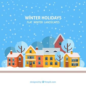 Winter holidays village