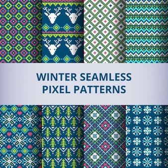 Winter patterns with pixels