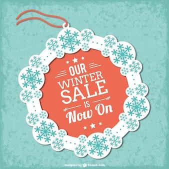 Winter sale tag vector