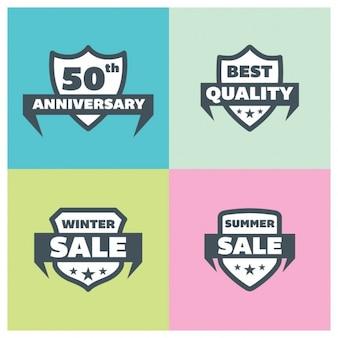 Winter sales badges