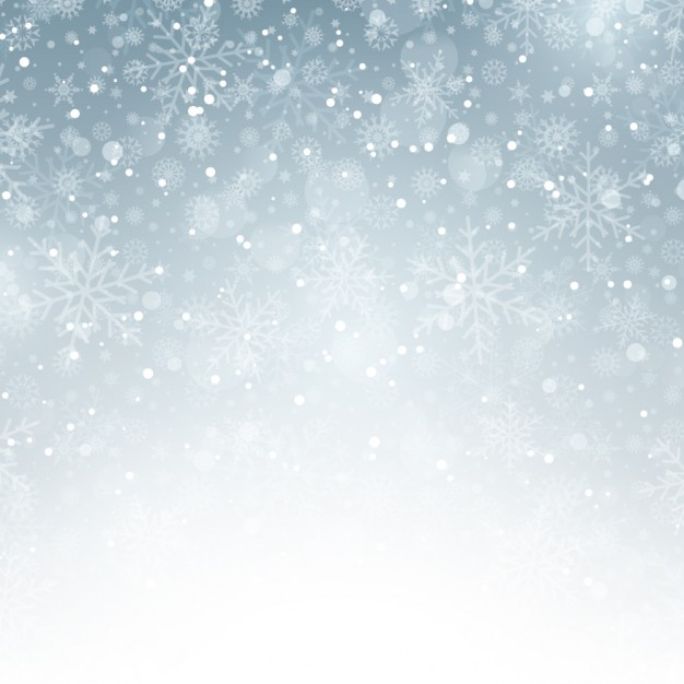 Winter silver background with snowflakes