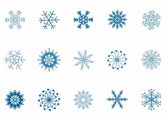Winter snowflakes set vector illustration