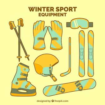 Winter sports equipment collection