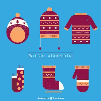 Winter textile elements