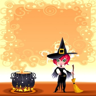 Witch background design