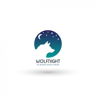 Wolf Night Logo Template