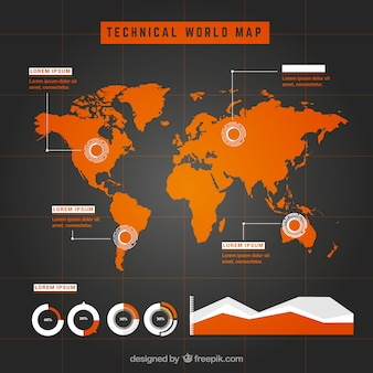 Wolrd map infographic