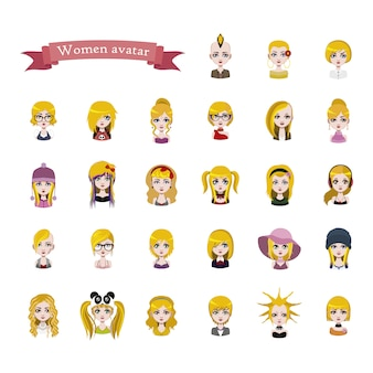 Woman avatar collection