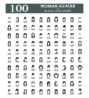 Woman avatars collection
