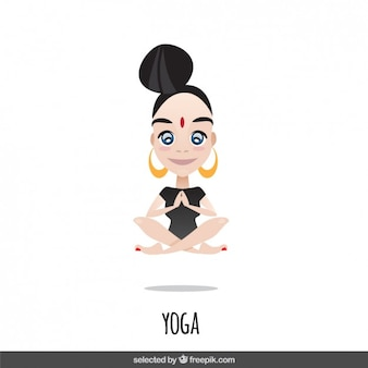 Woman character doing yoga