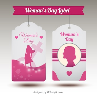 Woman day pink tags