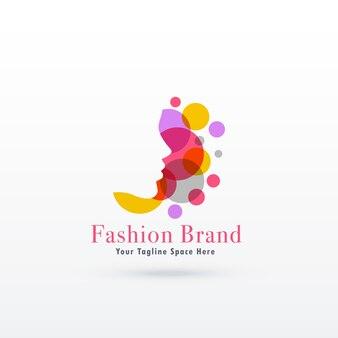 Woman face logo concept
