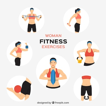 Woman fitness exercises