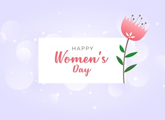 Woman's day background with a pretty flower