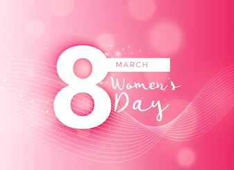 Woman's day blurred pink background