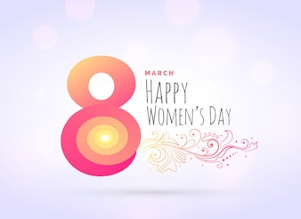 Woman's day greeting background with floral decoration