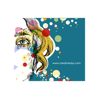 Woman´s face abstract vector pack