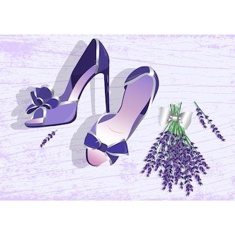 Woman shoes background design